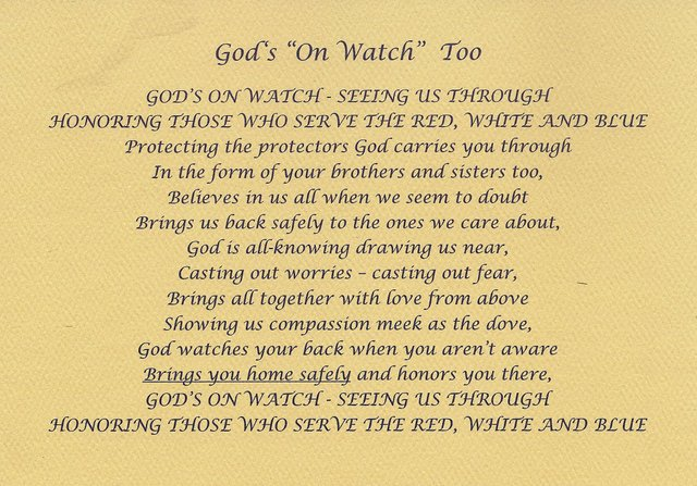 God on Watch Poem